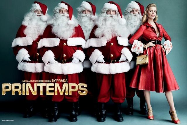 Универмаг Printemps и итальянский дом моды Prada создали рождественскую рекламную компанию