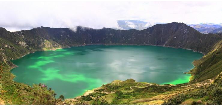 Озеро Килотоа в эквадорских Андах