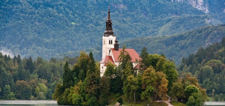 Удивительное озеро Блед в Словении