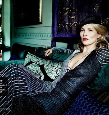 Кейт Мосс в журнале Vogue США Декабрь 2013