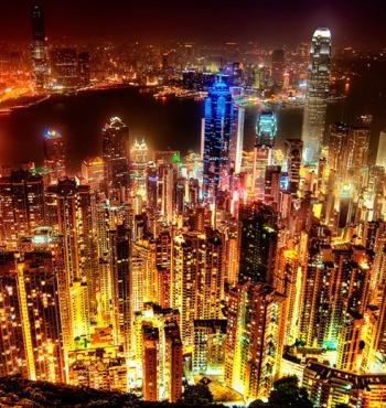 Фото дня: Ночной Гонконг