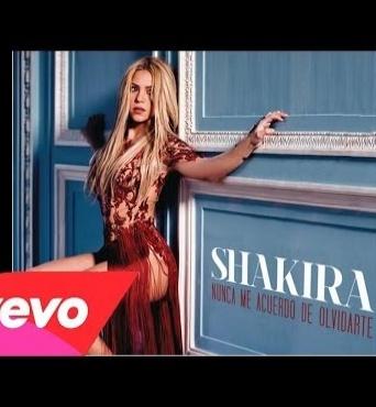 Новая песня Шакиры - Nunca Me Acuerdo de Olvidarte