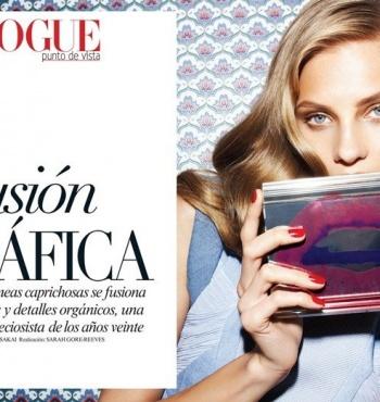 Фотосессия Анны Селезневой для журнала Vogue Латинская Америка