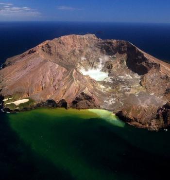 Уайт-Айленд - cамый активный вулкан в Новой Зеландии