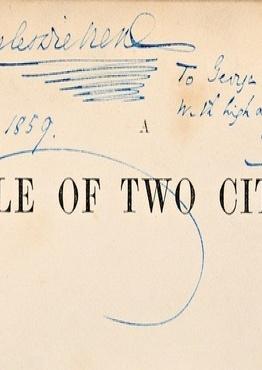 На аукцион был выставлен роман Чарльза Диккенса, подписанный для Джорджа Элиота