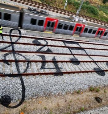 Фото дня: Железнодорожные ноты
