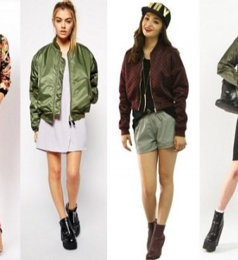 Модные женские бомберы